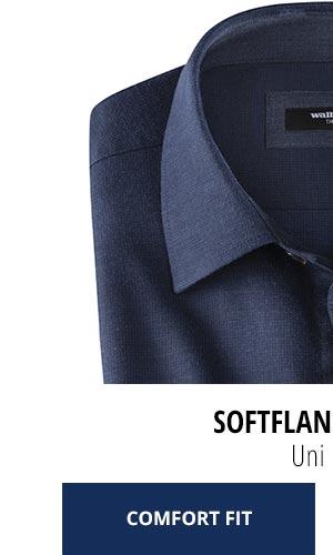2 Softflanell-Hemden nur € 69,90: Uni-Blau | Walbusch