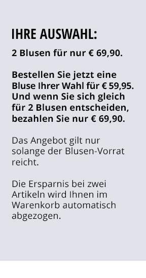 Ihre Auswahl: 2 Blusen für nur €69,90   Walbusch