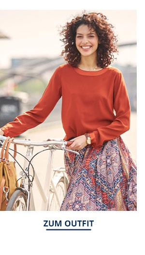 Outfit Trendfarben Seiden Shirtbluse   Walbusch