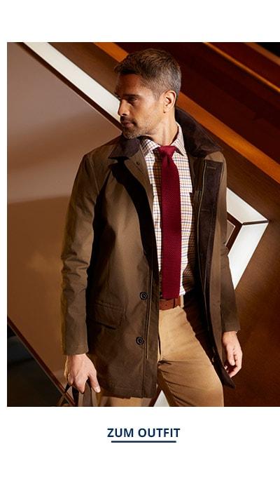 Outfit Wetter Kurzmantel   Walbusch