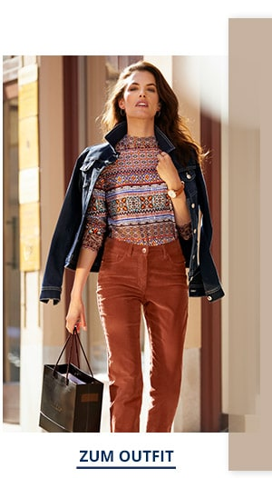 Outfit Trendfarben Powerstretch Jeansjacke   Walbusch