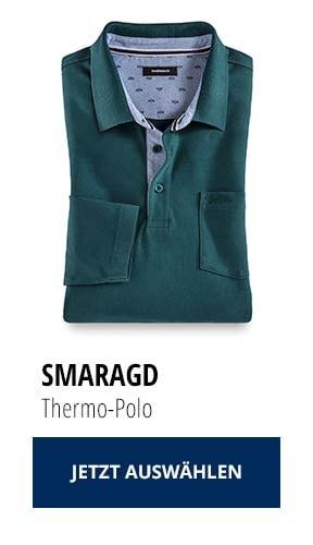 Jetzt testen: 2 Thermo-Polos nur € 79,90: Smaragd | Walbusch