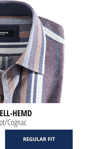 2 Softflanell-Hemden für nur € 69,90: Streifen Rot/Cognac | Walbusch