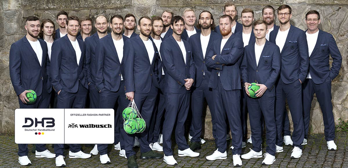 Handball-Stars des DHB im Walbusch Outfit   Walbusch