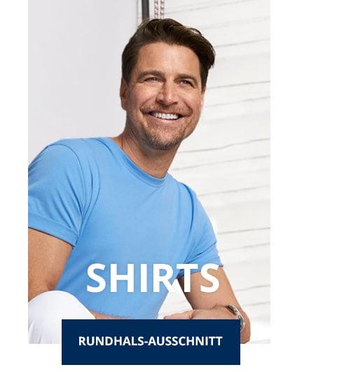 Herren T-Shirt Rundhals-Ausschnitt | Walbusch