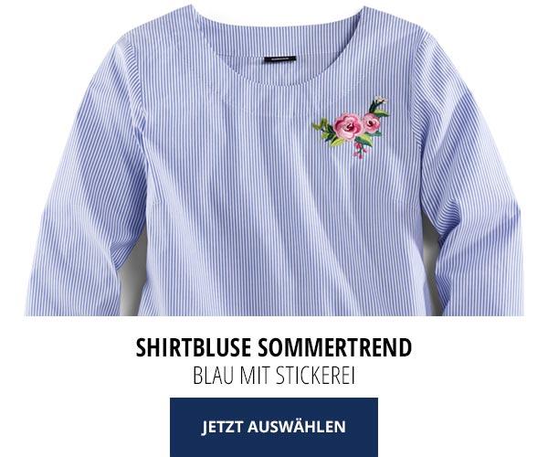 Sommerblusen nur 29,95€: Shirtbluse Sommertrend   Walbusch