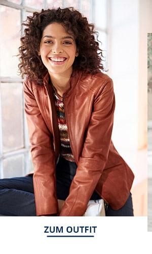 Outfit Trendfarben Lammnappa Jacke   Walbusch