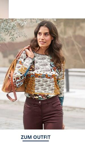 Outfit Trendmuster Viskose-Shirt   Walbusch