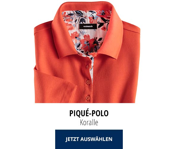 Piqué-Polo Sommer-Cotton Koralle | Walbusch