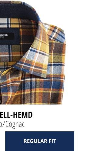 2 Softflanell-Hemden für nur € 69,90: Karo Gelb/Cognac | Walbusch