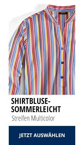 Shirtbluse Sommerleicht Streifen Multicolor | Walbusch