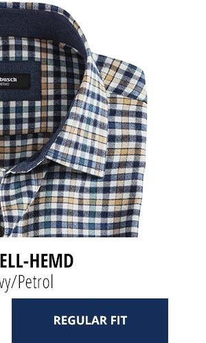 2 Softflanell-Hemden für nur € 69,90: Vichy Navy/Petrol | Walbusch