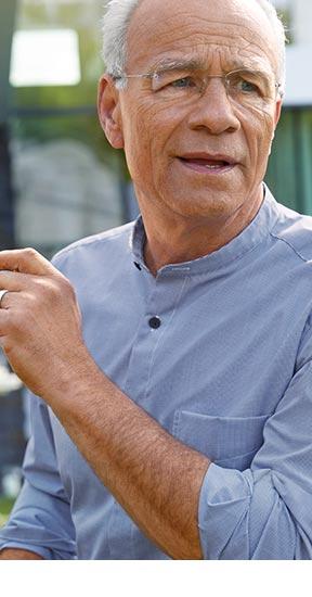 Stehkragen-Hemd Minikaro Blau/Weiß | Walbusch