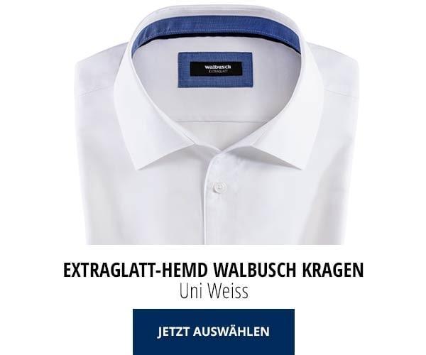Extraglatt-Hemd Walbusch-Kragen Uni Weiß | Walbusch