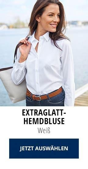 Extraglatt-Hemdbluse Weiß   Walbusch