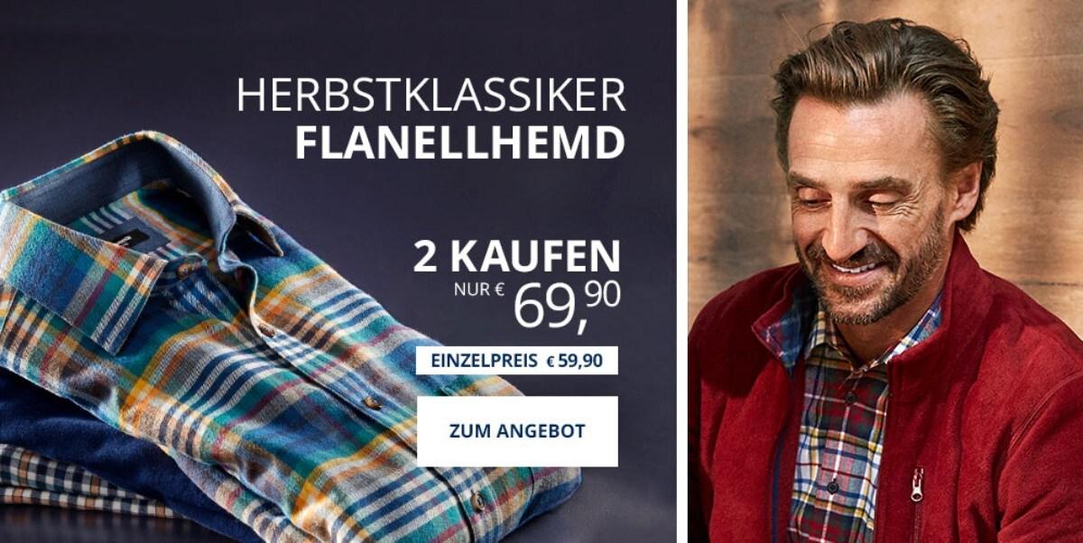 Angebot: 2 Flanellhemden | Walbusch