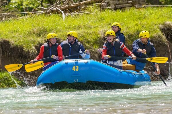 Rafting - paddeln im Wildwasser