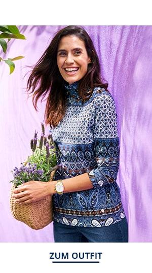 Outfit Trendfarben Viskoserolli Paisley   Walbusch