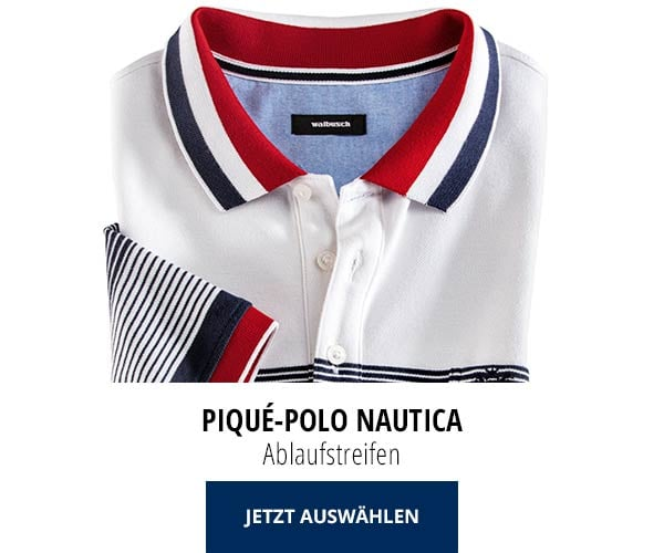 Piqué-Polo Nautica Ablaufstreifen   Walbusch