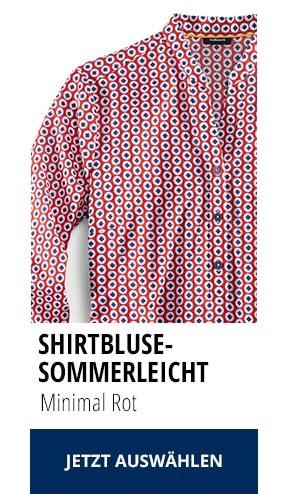 Shirtbluse Sommerleicht Minimal Rot | Walbusch