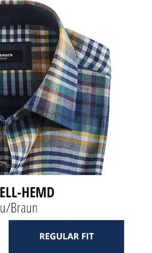 2 Softflanell-Hemden für nur € 69,90: Karo Blau/Braun | Walbusch