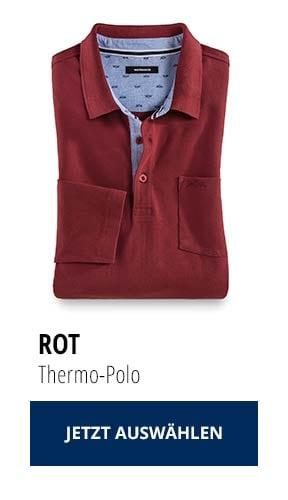 Jetzt testen: 2 Thermo-Polos nur € 79,90: Rot | Walbusch