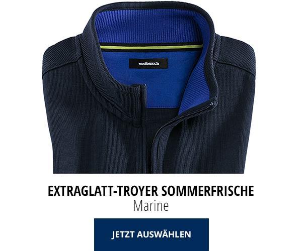 Extraglatt-Troyer Sommerfrische Marine | Walbusch