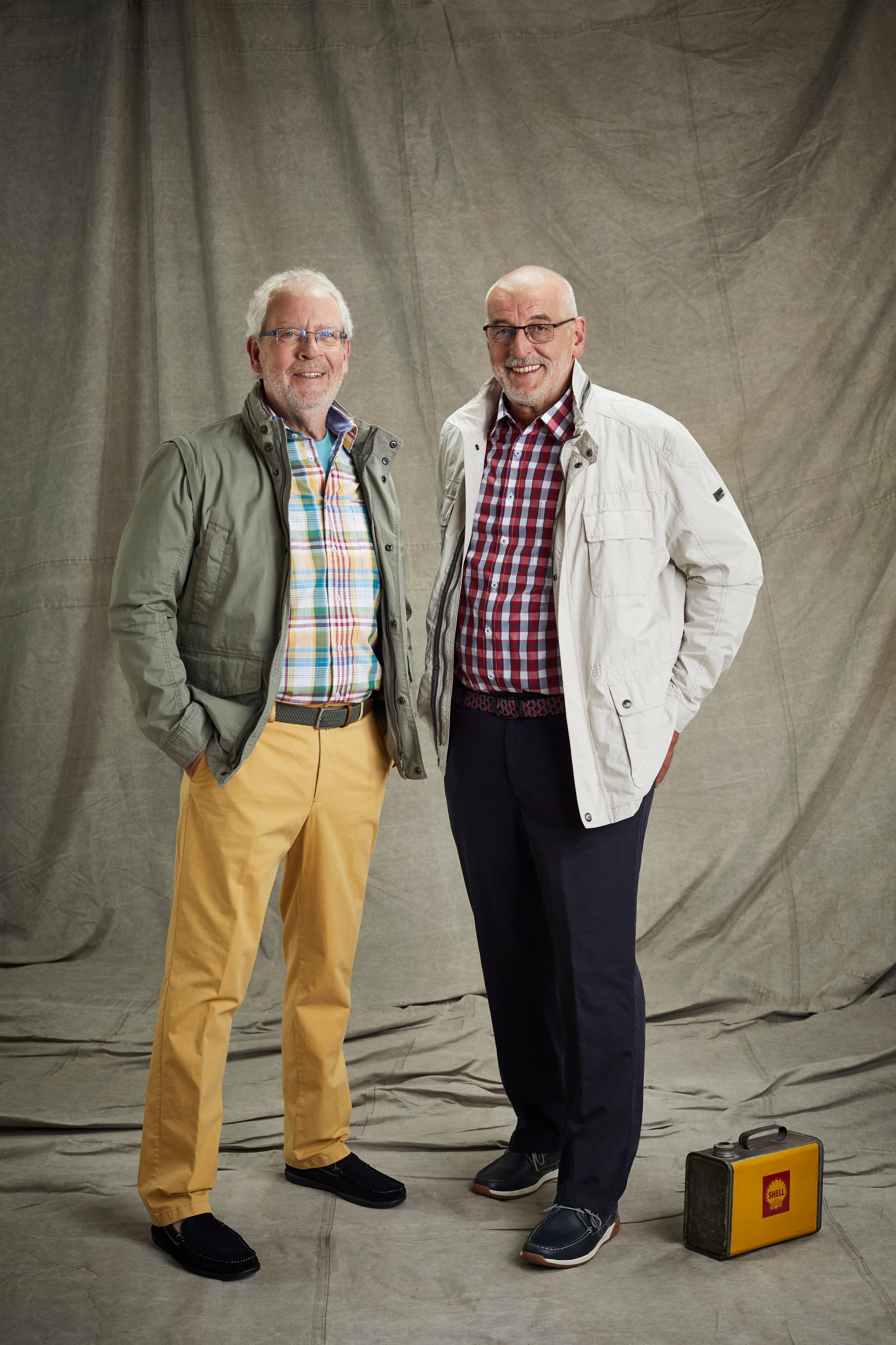 Siegfried Fernschild und Peter Heidt in langer Hose