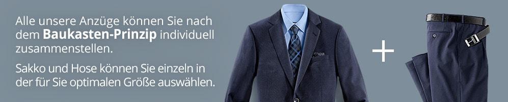 Baukasten Anzüge