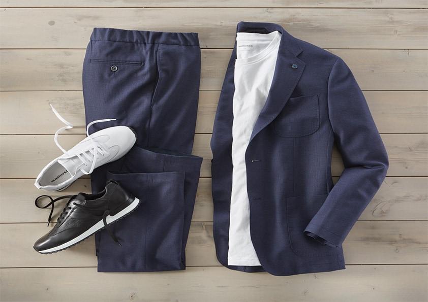 Sneaker zum Anzug: stimmiger Stilbruch
