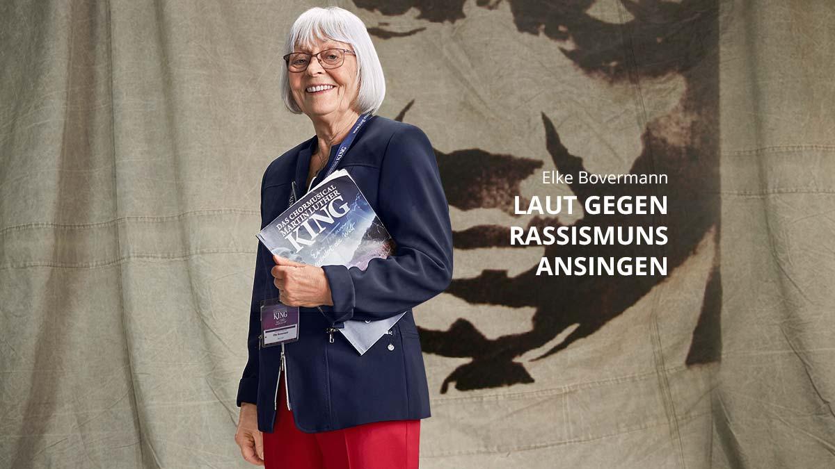 Elke Bovermann singt lauthals gegen Rassismus an