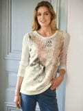 Pullover-Shirt Glitzer-Pique