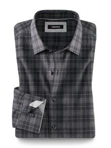 Melange-Hemd Winterwolle