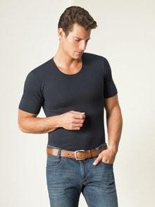 Modal-Shirt Rundhals 2er-Pack