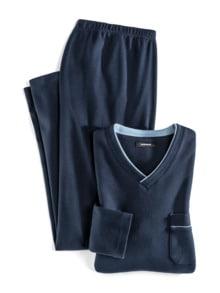 Wohlfühl-Schlafanzug Easycare Marine Detail 1