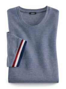 Rundhals T-Shirt Tricolore