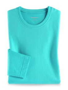 Langarm-Shirt Rundhalsausschnitt Aqua Detail 1