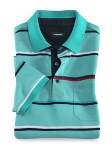 Extraglatt-Polo Bicolor Streifen