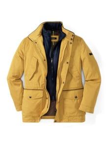 Zip-In-Jacke Gelb Detail 1