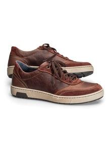 Kalbsleder-Sneaker Cognac Detail 1