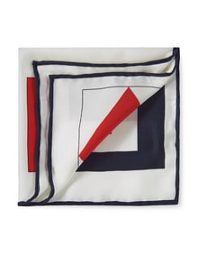 Einstecktuch Flaggenalphabet Marine/Rot/Weiß Detail 1