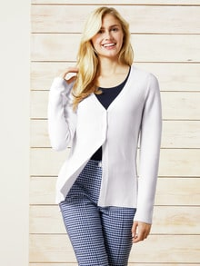 Cardigan Cotton Crepe