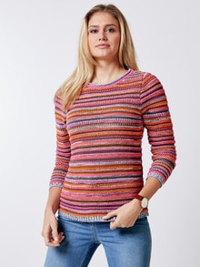 Sommerpullover Aufs Land Orange/Pink Detail 1