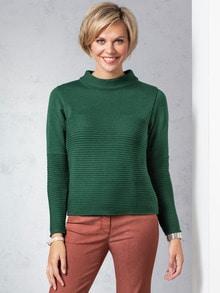 Kaminkragen Pullover Querrippe