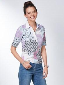 Pima Cotton Polo Kachelprint