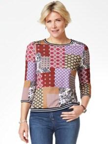 Blouson-Shirt Lissabon Zimt Multicolor Detail 1