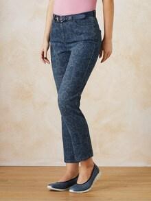 7/8 Jeans Blumenranke