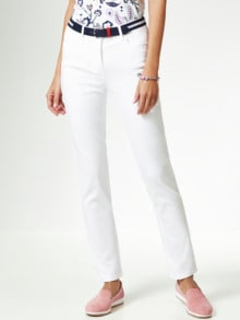 Gürtel- Jeans Weiß Detail 1