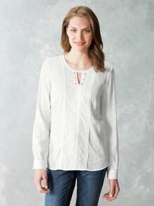 Just White Shirtbluse Spitzenwerk