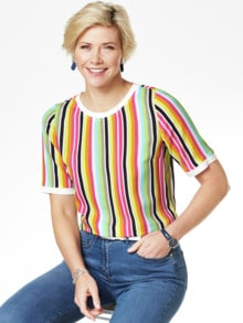 Shirtbluse-Multicolor-Streifen